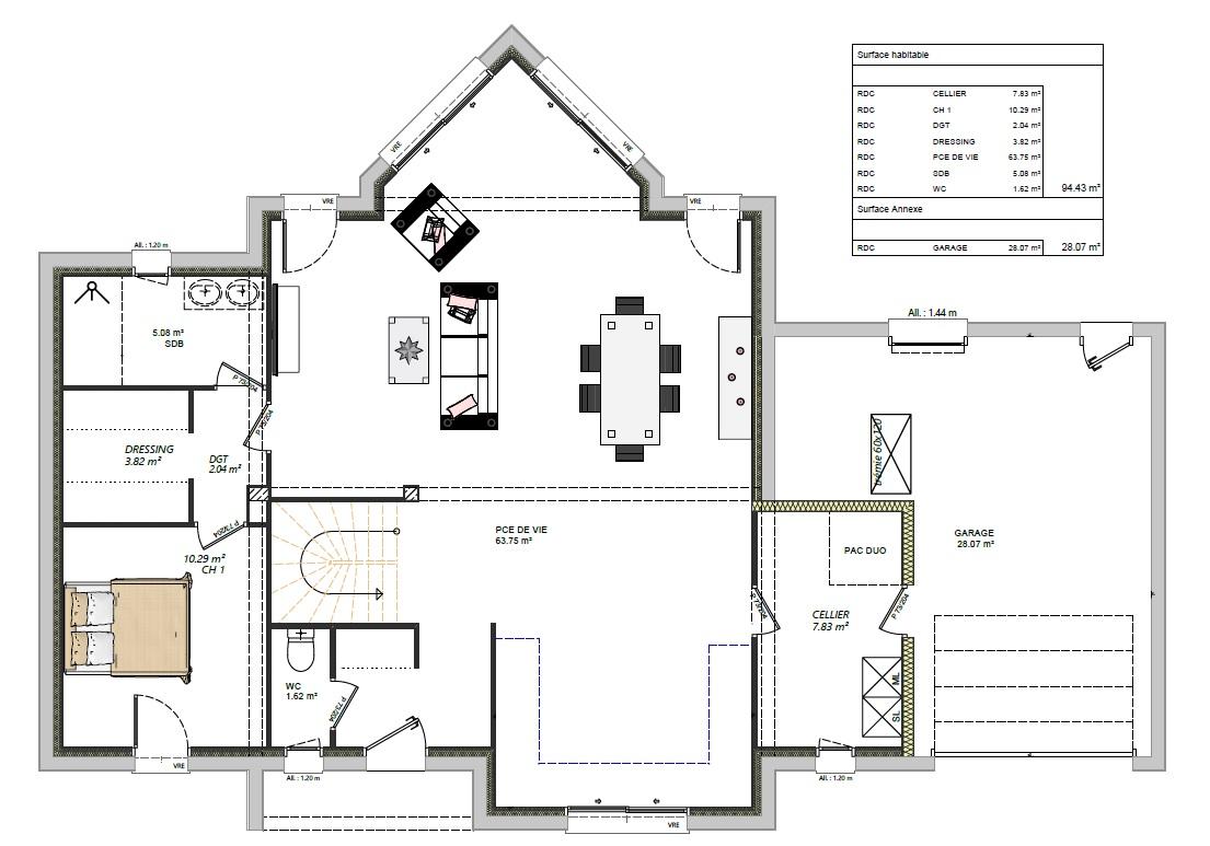 maisons lg le mans maison étage 4 chambres moderne contemporaine en sarthe 72000