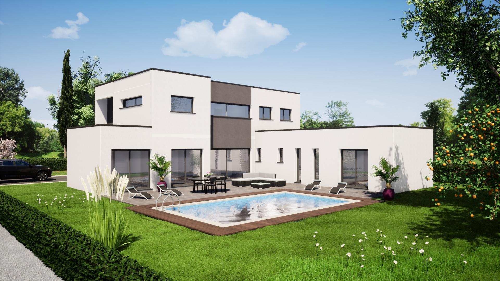 plan maison maison moderne 4 chambres maisons lg le mans maisons lg en sarthe constructeur de maison individuelle maison louplande arrière