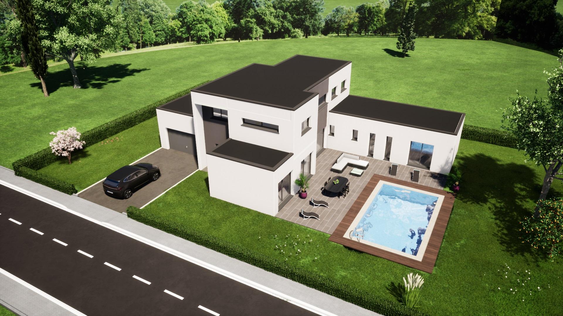 plan maison maison moderne 4 chambres maisons lg le mans maisons lg en sarthe constructeur de maison individuelle maison louplande dessus