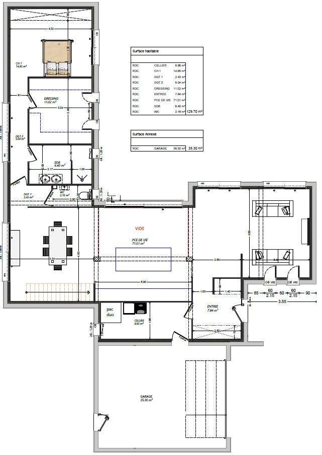 plan maison maison moderne 4 chambres maisons lg le mans maisons lg en sarthe constructeur de maison individuelle maison louplande plan RDC