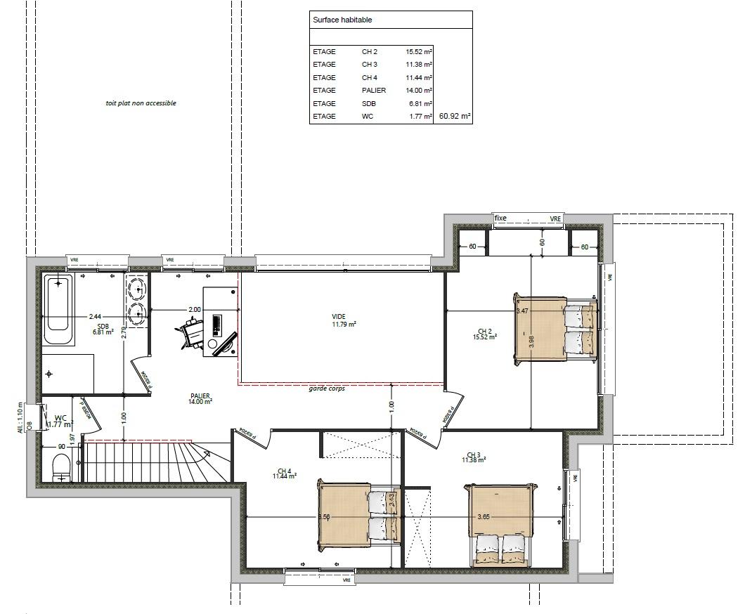 plan maison maison moderne 4 chambres maisons lg le mans maisons lg en sarthe constructeur de maison individuelle maison louplande plan étage