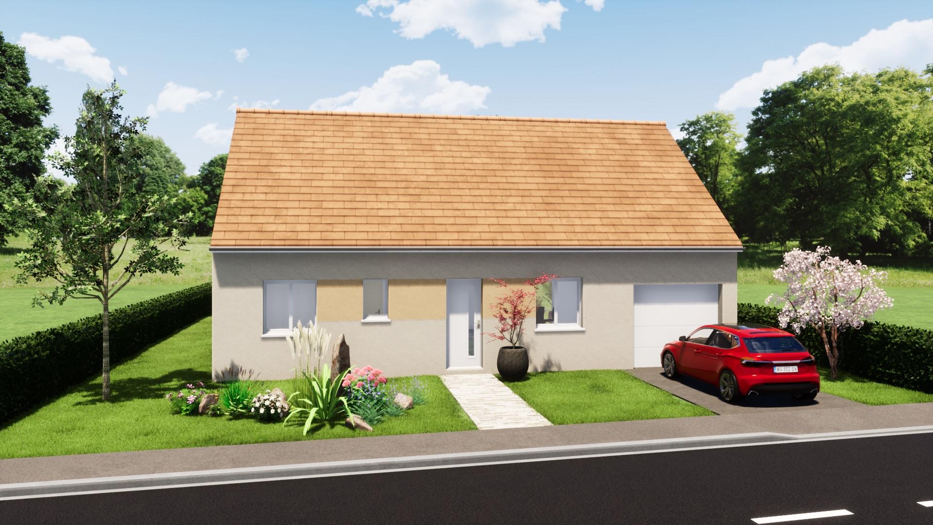 maison plain pied 3 chambres maison moderne maison contemporaine constructeur maisons lg en Sarthe Le Mans maison RE 2020 plans maison rez-de-chaussée arrière